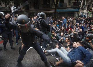 Agressió als manifestants de 1 d'octubre
