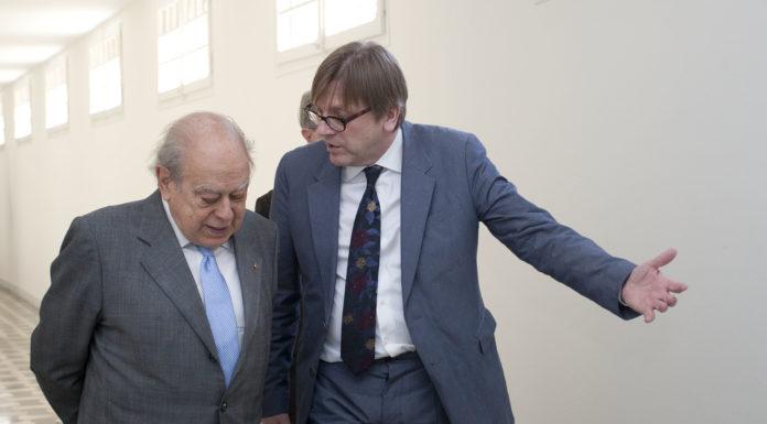 Jordi Pujol i Guy Verhofstadt, president dels liberals europeus.