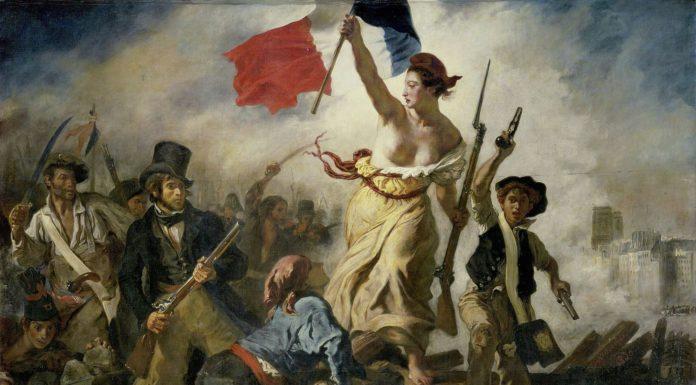 La llibertat guiant al poble. Pintor: Eugène Delacroix
