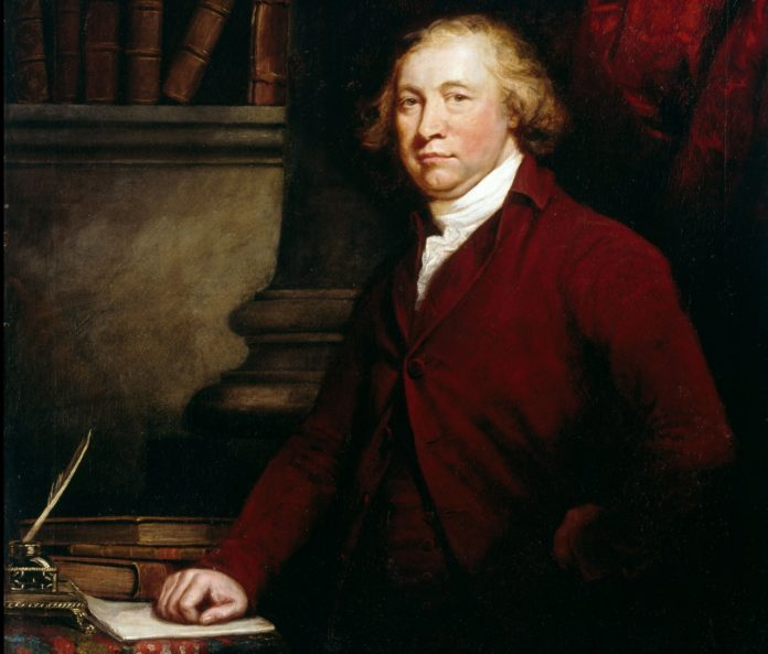 Retrat d'Edmund Burke pintat per J. Barry. Exposat a la Galeria Nacional de Dublin.